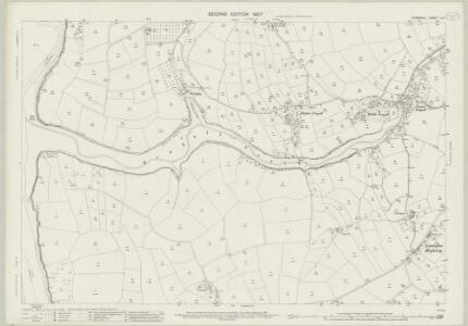 Cornwall LII.1 (includes: Fowey; Lanteglos; St Sampson; St Veep) - 25 Inch Map