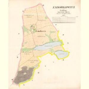 Zahorkowitz - c9046-1-001 - Kaiserpflichtexemplar der Landkarten des stabilen Katasters