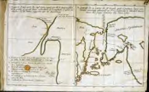 Esquisse d'une carte du cap.te Cook