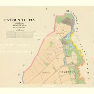 Unter Milletin - c1343-1-001 - Kaiserpflichtexemplar der Landkarten des stabilen Katasters