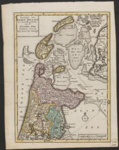 Kaartje van Noord Holland en 't grootste gedeelte van de Zuider Zee getekent naar de peil kaart der pilotagie