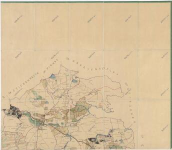 Přehledová mapa velkostatku Tachov