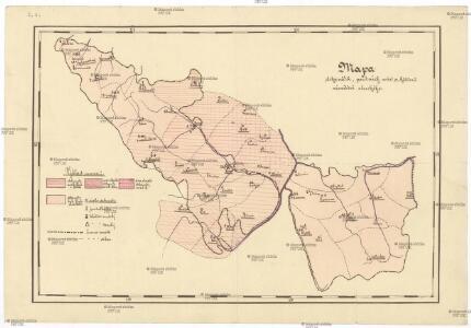 Mapa dekanátů, poutních míst a klášterů vévodství slezského