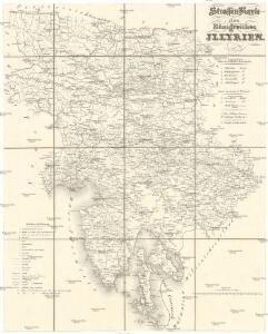 Strassen-Karte des Königreiches Illyrien
