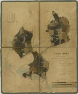 Porostní mapa polesí Mláka s vyznačením bonity půdy 1