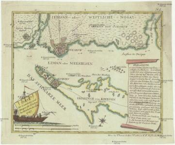 Carte der Landung und Attaque der Türken bei Kinburn den 12ten Oct. 1787