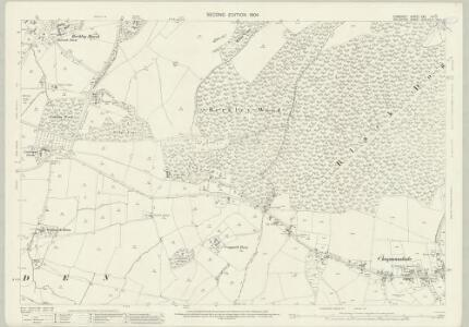 Somerset XXX.16 (includes: Berkley; Chapmanslade; Selwood) - 25 Inch Map