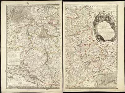 Carte topographique du Diocese de Sens divisé en ses cinq Archidiaconés et ses douze Doyennés