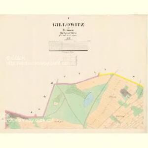 Gillowitz - c2900-1-001 - Kaiserpflichtexemplar der Landkarten des stabilen Katasters