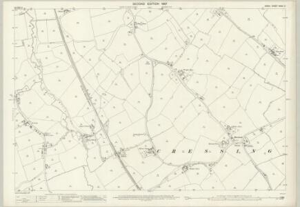 Essex (1st Ed/Rev 1862-96) XXXIV.3 (includes: Black Notley; Cressing) - 25 Inch Map