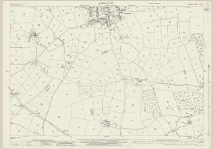 Durham XLVIII.8 (includes: Coatham Mundeville; Heighington; Walworth) - 25 Inch Map