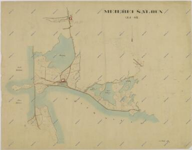Mapa pozemků dvora Šaloun 1