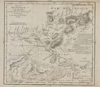 Carta Plana de la Provincia de la Hacha