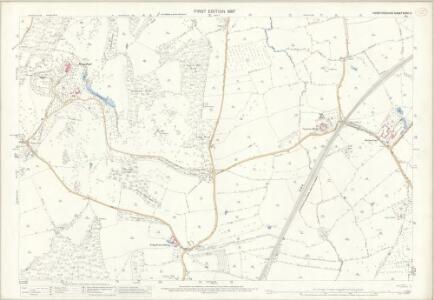 Herefordshire XXXVI.9 (includes: Coddington; Colwall; Ledbury Rural; Wellington Heath) - 25 Inch Map