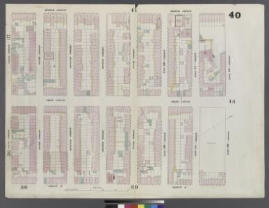 Plate 40: Map bounded by East 12th Street, Avenue A, 5th Street, Second Avenue