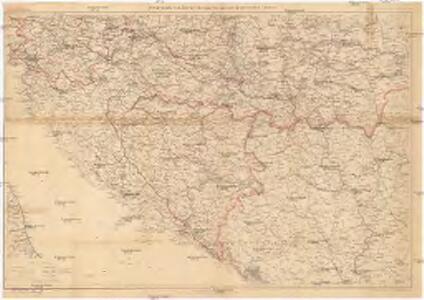 Verkehrskarte von Bosnien-Hercegovina und den angrenzenden Ländern