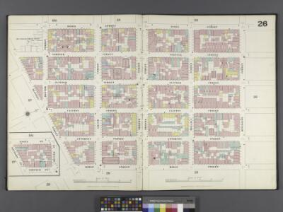 Manhattan, V. 1, Double Page Plate No. 26 [Map bounded by Essex St., Rivington St., Ridge St., Division St.]