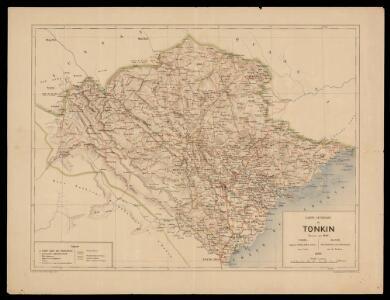 Carte générale du Tonkin / dressée par Nay ; gravé par J. Jérôme ; Imp. Dufrenoy
