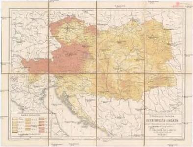 Verbreitung der Deutschen in Oesterreich-Ungarn nach der Volkszählung vom 31. Dezember 1880 (Gerichts-und Stuhlbezirke)
