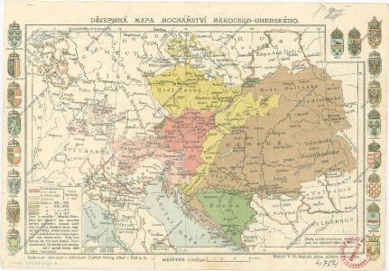 Dějepisná mapa mocnářství Rakousko-uherského