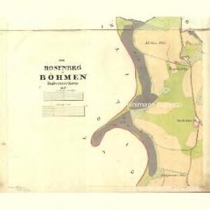 Rosenberg - c6601-1-001 - Kaiserpflichtexemplar der Landkarten des stabilen Katasters