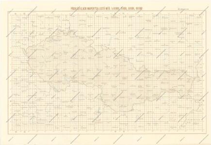 Přehled kladu mapových listů měř. 1:10 000, 25 000, 50 000, 100 000