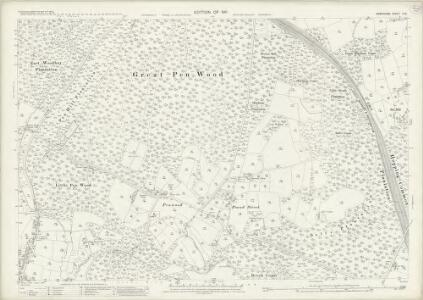 Hampshire and Isle of Wight II.16 (includes: Burghclere; East Woodhay; Highclere) - 25 Inch Map