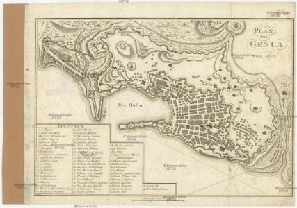 Plan von Genua