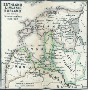 Esthland, Livland, Kurland zur Zeit des Schwertordens 1201 - 1237