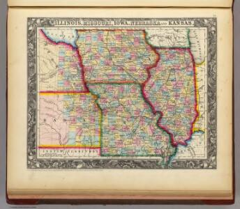 Illinois, Missouri, Iowa, Nebraska And Kansas.
