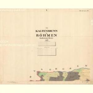 Kaltenbrunn - c7498-1-001 - Kaiserpflichtexemplar der Landkarten des stabilen Katasters