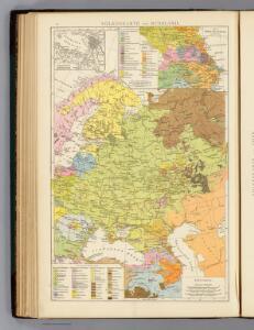 Volkerkarte von Russland.