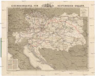 Eisenbahnkarte von Oesterreich-Ungarn