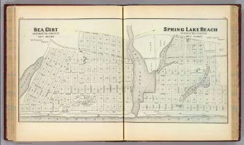 Sea Girt and Spring Lake Beach, Monmouth County, New Jersey.