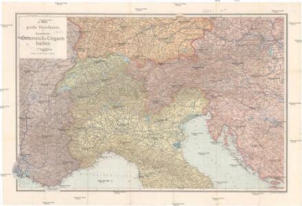 Ed. Hölzels große Handkarte der Grenzländer Österreich-Ungarn Italien