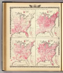 United States vitality maps, compiled from the Census of 1870.