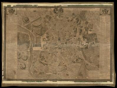 Plan geometrico e historico de la villa de Madrid y sus contornos