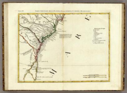 Parte Orientale della Florida, della Giorgia, e Carolina Meridionale.