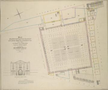 Plan of ISLINGTON CATTLE MARKET BUILDING GROUND & RESIDENCES