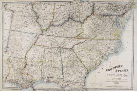 Map of the Southern States of North America, with the Forts, Harbours and Military Positions.