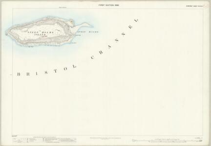 Somerset XV.4 & 3 (includes: Steep Holme Island) - 25 Inch Map