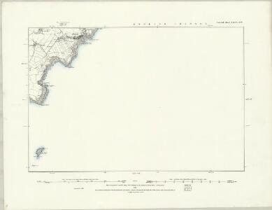 Cornwall LXV.NE - OS Six-Inch Map