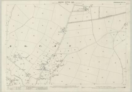 Cambridgeshire XLVI.1 (includes: Bourn; Caldecote) - 25 Inch Map