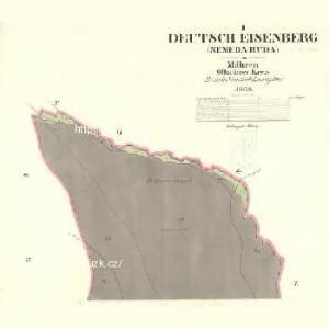 Deutsch Eisenberg (Nemeda Ruda) - m2628-2-001 - Kaiserpflichtexemplar der Landkarten des stabilen Katasters