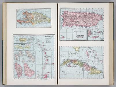 Island of Haiti.  Lesser Antilles.  Puerto Rico.  Cuba.