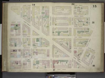 [Plate 18: Map bounded by Spring Street, Clarke       Street, Sullivan Street, Grand Street, Thompson Street, Laight Street, West      Street; Including Canal Street, Dominick Street, Broome Street, Watts Street,    Desbrosses Street, Grand Street, Ve