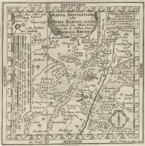 Mappa Specialissima oder Privat-Karten, allein Vorstellend den Pfarr Umfang des I. Closters Sane