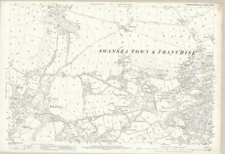 Glamorgan XXIII.8 (includes: Swansea) - 25 Inch Map