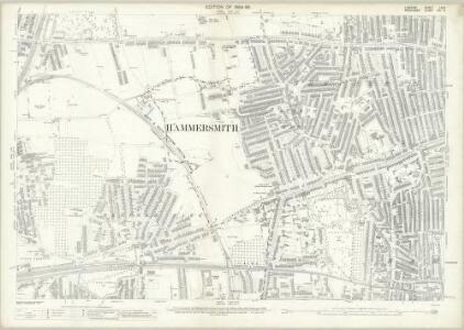 London (Edition of 1894-96) LXXII (includes: Acton; Chiswick St Nicholas; Hammersmith) - 25 Inch Map