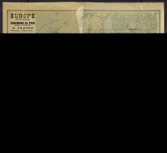 Europe centrale. Chemins de fer, lignes de navigation